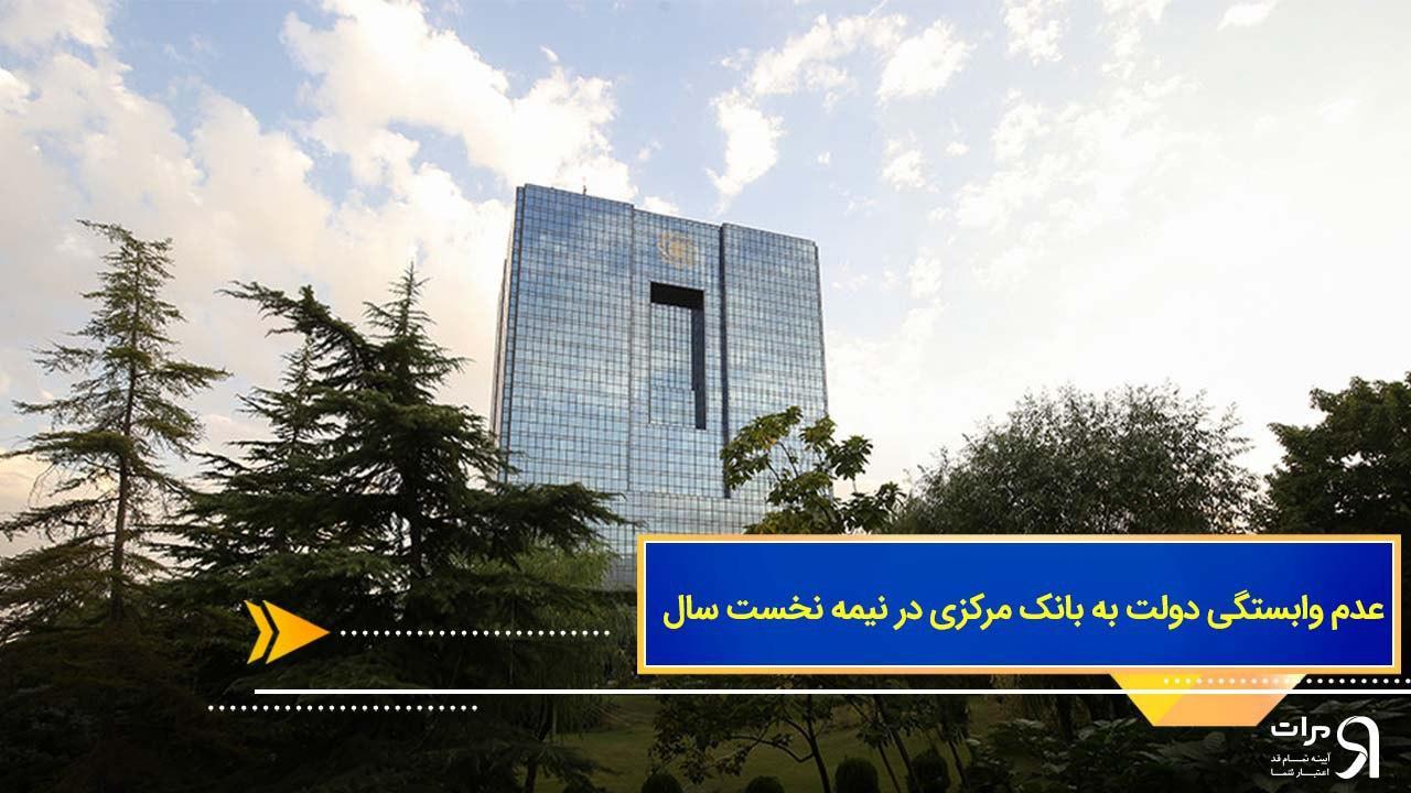 عدم وابستگی دولت به بانک مرکزی